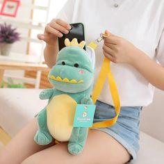 Kawaii Bags, Kawaii Cute, Diy Plush Toys, Kawaii Jewelry, Baby Dinosaurs, Kawaii Fashion, Harajuku Fashion, Harajuku Japan, Cute Dinosaur