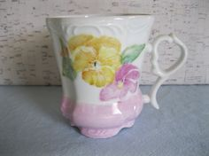 Victorian Style Footed Coffee or Tea Cup by fiordalis on Etsy, $8.00