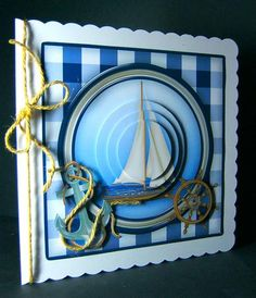 Card Gallery - Sailing Birthday or Father's Day Pyramage