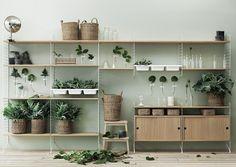 Etagères en bois et métal String Shelf - String Furniture