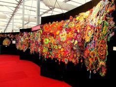 Prudence Mapstone's Collaborative #Crochet Flower Power #Art Project