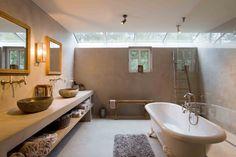 Stoopen&Meeûs - Stuc deco bathroom. Betonlook. Belgian Tadelakt.
