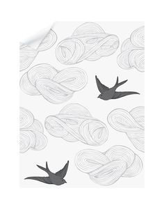 53 best maia ideas images floor rugs modern rugs area rugs 1970s Braces daydream removable wallpaper tile with a birds and clouds pattern in gray on white hygge