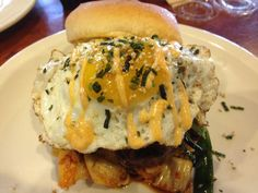 The Korean Burger with a Fried Egg & Kimchee from B.C. Cafe – Davie, Florida
