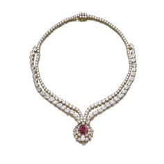 Attractive ruby and diamond necklace, M. Gérard | Lot | Sotheby's
