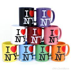 I Love NY Color Mug 9 FUN Colors 11oz Ceramic Licensed Mugs