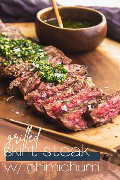 Steak Marinade Recipes, Sauce Recipes, Beef Recipes, Cooking Recipes, Beef Dishes, Tasty Dishes, Churrasco Recipe, Brazillian Food, Chimichurri Sauce Recipe