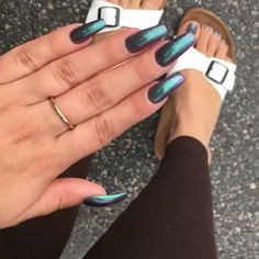 Client view chrome nails and feet
