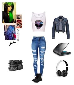 """Brooke Jones"" by septicplier-mangle ❤ liked on Polyvore featuring Bibi, Killstar, WithChic, maurices and Beats by Dr. Dre"