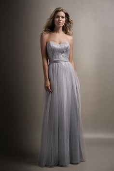 Jasmine bridesmaid dress style Color silver/sterling a strapless sequin dress with a layer of soft tulle on top. Available at Bridal Collections Spokane, WA Jasmine Bridesmaids Dresses, Silver Bridesmaid Dresses, Bridal Dresses, Wedding Gowns, Bridal Reflections, Jasmine Bridal, Event Dresses, Beautiful Dresses, Gorgeous Dress