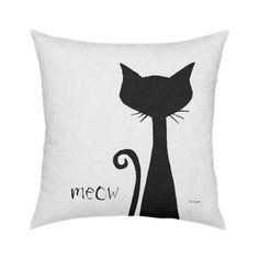 Another cute cat pillow design. Meow Pillow 18x18                                                                                                                                                     More