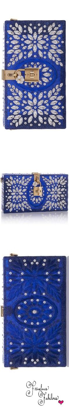 Frivolous Fabulous - Dolce & Gabbana Crystal Embellished Clutch Fall Winter 2016