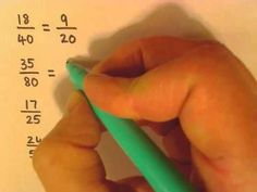 How to simplify fractions video clip, online math help - simplifying fractions Math Helper, 4th Grade Fractions, Learn Math Online, Clip Online, Simplifying Fractions, Math Magic, Math School, Homeschool Math, Homeschooling
