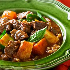 Beef Casserole With Pearl Barley
