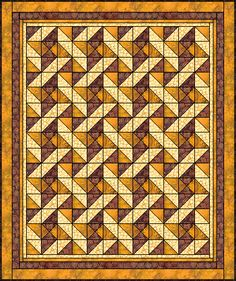 Easy Quilt -intrigued by the play of light and dark that makes this appear three dimensional. Could be very lovely in other colors.