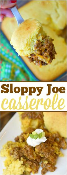 This easy sloppy joe casserole recipe needs just 5 simple ingredients to make! Delicious homemade sloppy joes in a cornbread casserole you're sure to love! via @thetypicalmom Tap the link now to find the hottest products for your kitchen!