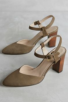 625c2ccd2a1e Cleo B Pointed Nubuck Heels  anthropologie New Shoes