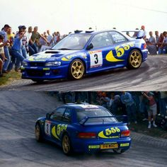 Rally Portugal 1997 Colin Mcrae on SS1. subaru impreza