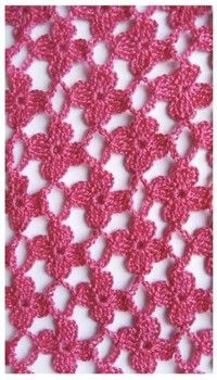 lovely crochet lace patterns with charts.  this one clear on how to complete daisy over two rows. :)
