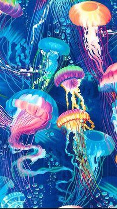Medusas Jellyfish Painting, Sea Art, Ocean Creatures, Art Plastique, Belle Photo, Wallpaper Backgrounds, Wallpapers, Cool Art, Art Projects