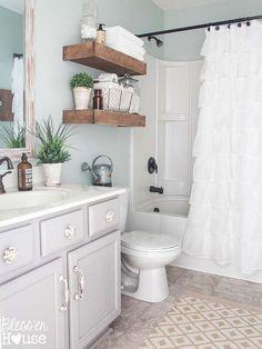 Renueva el baño y decóralo con el encanto del rústico más refinado