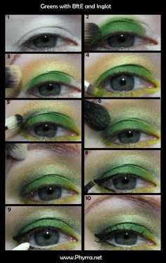 Green Tutorial with BftE & Inglot. Click through to see more!