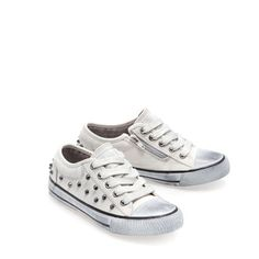 Image 2 of STUDDED FABRIC PLIMSOLE from Zara