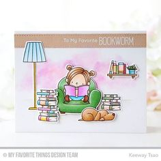 Share a smile with a favorite bookworm - #BirdieBrown's Our Story set is a reader's dream come true! #DecemberRelease #linkinprofile http://www.mftstamps.com/clear-stamps/bb-our-story