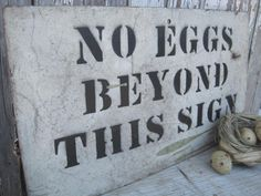 Vintage Handmade Eggs Sign. $62.95, via Etsy.