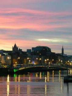 View of Dublin at sunset in 2007