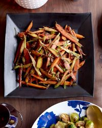 Red-Miso-Glazed Carrots | Red miso is made from soybeans fermented with barley or other grains. It adds a deep, savory flavor to these buttery carrots.
