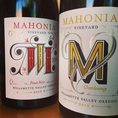New @mahoniavineyard bottles came in that I designed! Yay monograms!