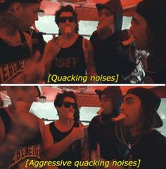 If someone ever asks me what Pierce The Veil is like I'm showing them this picture