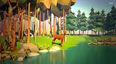 low poly forest - Google-Suche