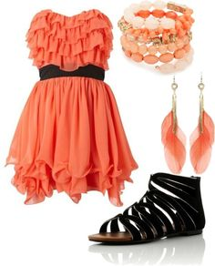 Fun ruffly dress!