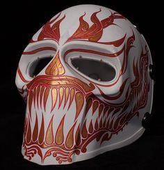 Airsoft Mask Onimaru Army of Two Paintball Helmet Cosplay PHI TA Khon Series | eBay