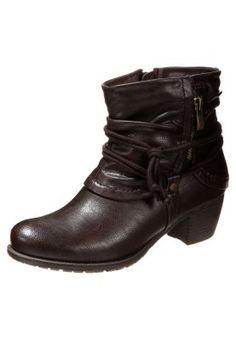 Cowboy-/ Bikerstiefeletten - dark bown Anna, Biker, Wedges, Dark, Shopping, Shoes, Fashion, Over Knee Socks, Cowboy Boot
