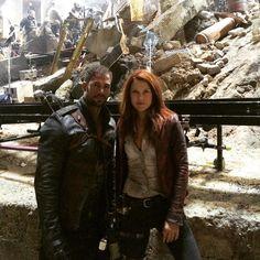 William Levy & Ali Larter on set #Resident_Evil_The_Final_Chapter