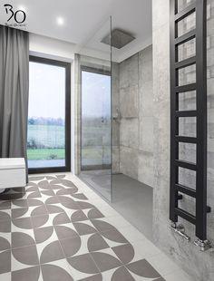 BATI ORIENT présente ce sol de salle de bain en carreau ciment  Codes articles :  CIMI80 et CIBL02
