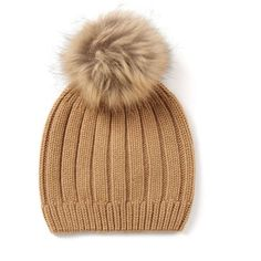 1f2d2b0b8dd Cashmere Luxe Pompom Hat ( 155) ❤ liked on Polyvore featuring accessories