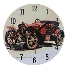 This listing is for one Home Decoration Vintage Style MDF Nostalgic Retro Red Convertible Car Scene Wall Clock. Price £12.99