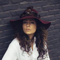urban warrior bordeaux haarvilt hoed - Hats of Antwerp