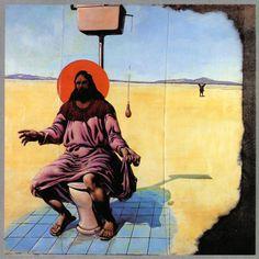 """Leszek Żegalski, """"Chrystus na toalecie"""", 1988"""