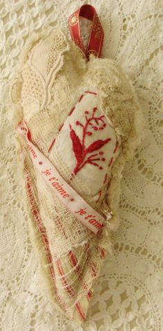 french shabby heart by Lilla on Etsy