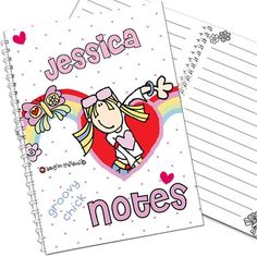 Personalised Bang on the Door Notebook - Groovy Chick  from Personalised Gifts Shop - ONLY £5.99