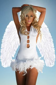 Plus Size Angel Wings in white  Item No. : DP85012-1P  Price : $37.99  To order today, please email us at dieprettyclothing@gmail.com  We look forward to hearing from you!  ~ Die Pretty Clothing Co. www.dieprettyclothingco.com