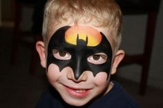 DIY Batman Face Paint #DIY #Bats #SuperHeroes #SuperHero #FacePainting #Birthdays #Birthday #Parties #Party