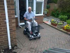 Mr Halestrap on his Quingo Flyte #mobilityscooter