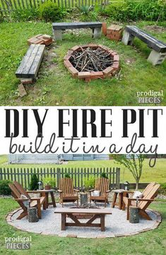 DIY Fire Pit ~ Backyard Budget Decor - Prodigal Pieces - Make your outdoor space inviting, safe, and cozy with this DIY Fire Pit tutorial with video by Prod - Fire Pit Ring, Diy Fire Pit, Fire Pit Backyard, Backyard Patio, Backyard Landscaping, Landscaping Ideas, Fire Pit Gravel Area, Inexpensive Landscaping, Florida Landscaping