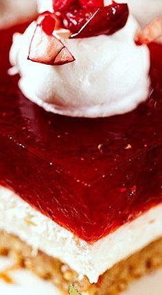 Cranberry Orange Jello Salad with Brown Sugar Pecan Shortbread Crust ❊